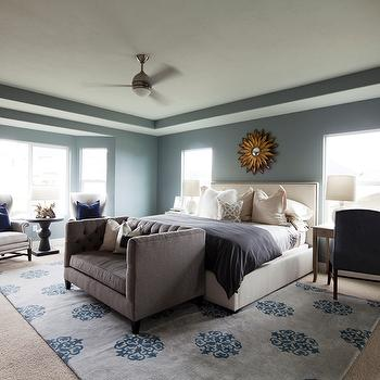Tray Ceiling in Bedroom, Transitional, bedroom, Alice Lane Home