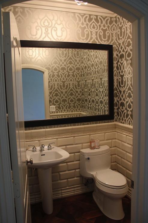 Beveled Edge Subway Tile Design Ideas