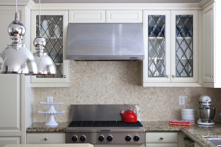 Ordinary Leaded Glass For Kitchen Cabinets Part - 1: View Full Size. Beautiful Kitchen With Leaded Glass Fronted Upper Cabinets  ...