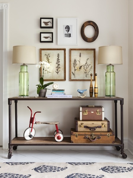 Industrial Console Table, Cottage, entrance/foyer, House & Home