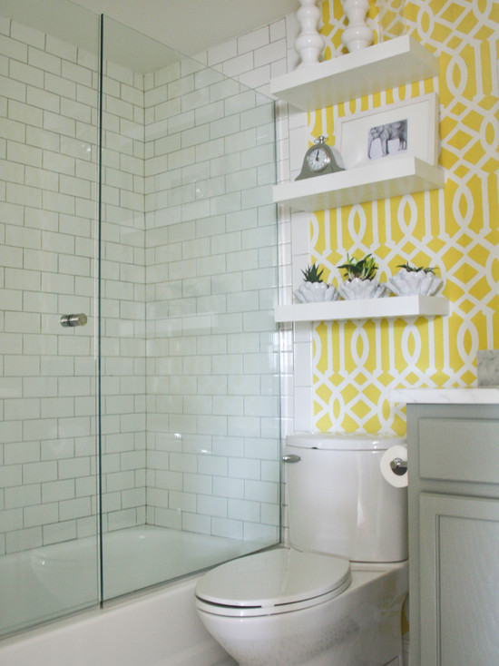 Imperial Trellis Stencil Contemporary Bathroom Benjamin Moore
