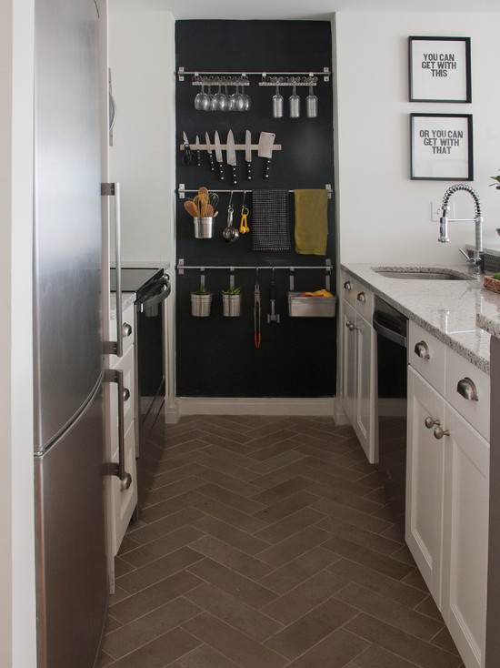 kitchen chalkboard wall - contemporary - kitchen - benjamin moore