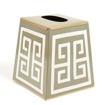 Greek Key Tissue Box Cover I Furbish Studio