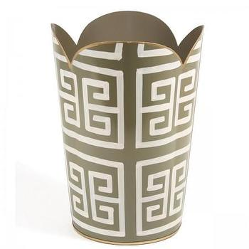 Greek Key Wastebasket I Furbish Studio