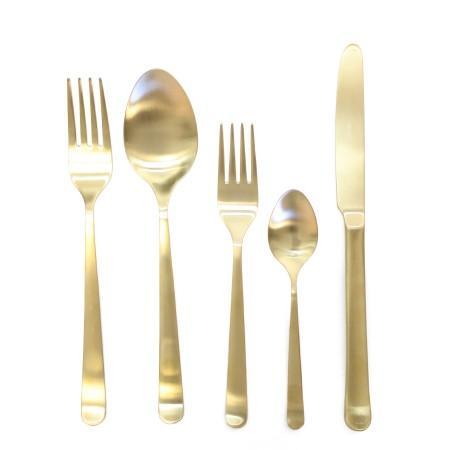 Oslo Gold Cutlery Set- s/5 I Furbish Studio