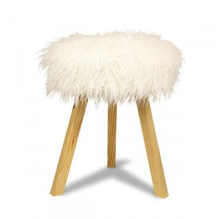 Furry Stool I Furbish Studio Pinup Pink Faux Fur Stool