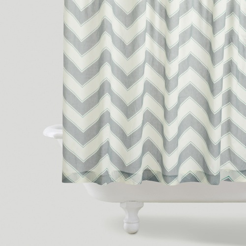 World Market Chevron Shower Curtain View Full Size