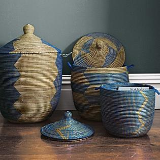 Attirant Senegalese Storage Baskets   Blue   Serena U0026 Lily Link On Pinterest View  Full Size