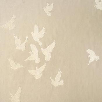 Flutter Glass Bead Effect Wallpaper in Tan design by York, BURKE DECOR
