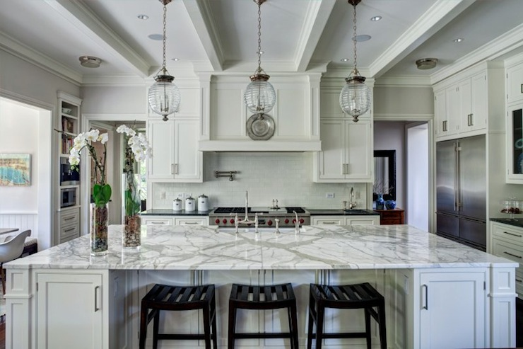 Oversized Kitchen Island - Transitional - kitchen - Andrea Goldman ...