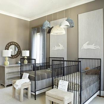 Nursery for Twins, Contemporary, nursery, Finnian's Moon Interiors