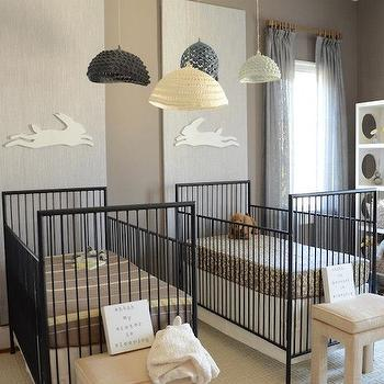 Twin Nursery Design, Contemporary, nursery, Finnian's Moon Interiors