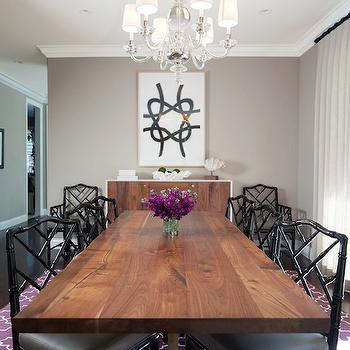 Purple and Gray Dining Room, Contemporary, dining room, Kate Collins Interiors