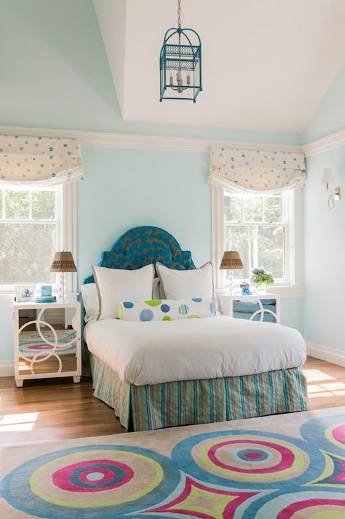 Turquoise Girl S Room Transitional Girl S Room