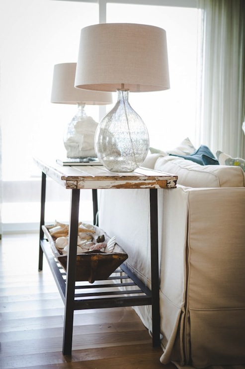 Distressed console table cottage living room ashley gilbreath distressed console table aloadofball Choice Image