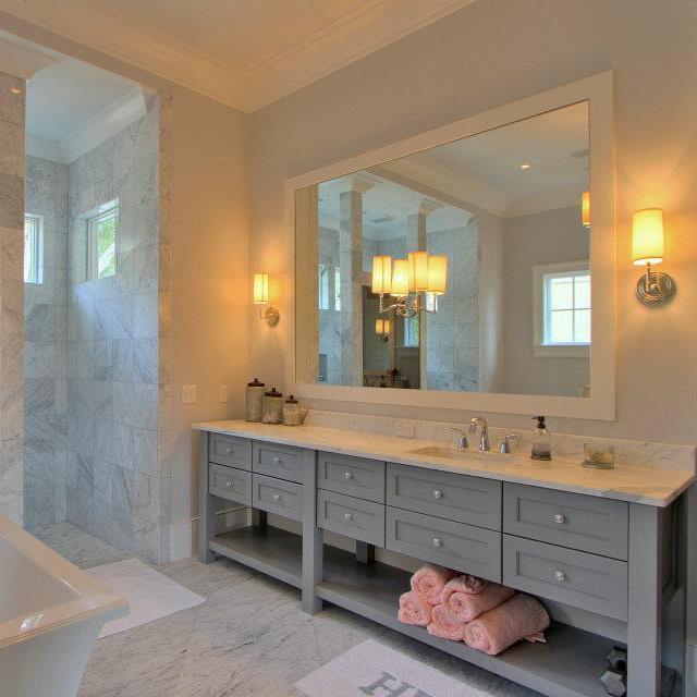 Grey Vanity - Contemporary - bathroom - Palmetto Cabinet ...
