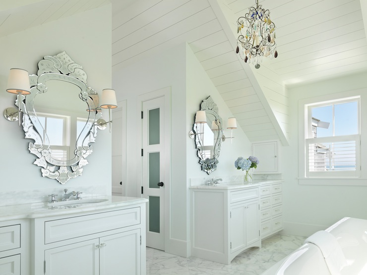 His And Her Vanities French Bathroom Bcp Architecture