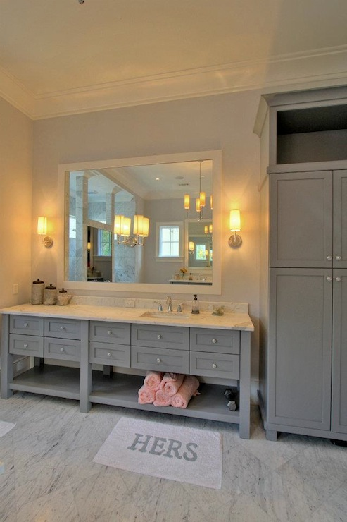 Grey bathroom vanity contemporary bathroom palmetto Bathroom cabinets gray
