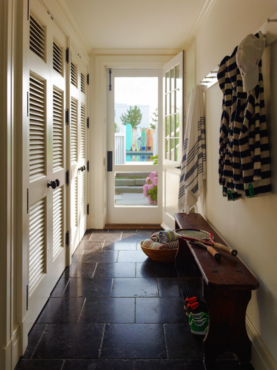 Long Mudroom Design Cottage Laundry Room Sawyer Berson