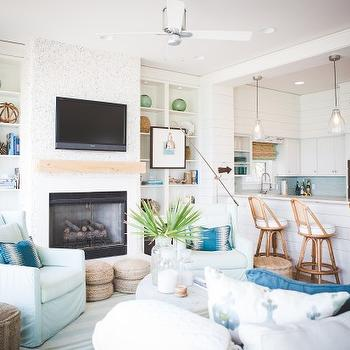 Beach Cottage Living Room, Cottage, living room, Ashley Gilbreath