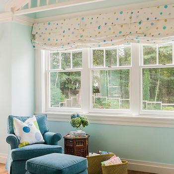 Blue Girl's Room paint Colors, Transitional, girl's room, Benjamin Moore Woodlawn Blue, Jill Litner Kaplan Interiors