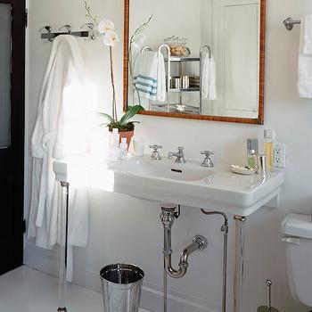 Chrome bathroom etagere