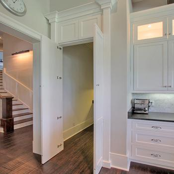 Walk in pantry design ideas for Hidden pantry doors