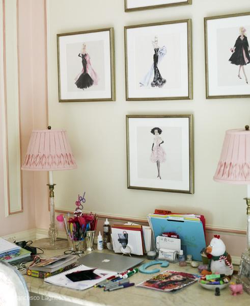 Vintage Barbie Prints - Traditional - girl\'s room - Miles Redd