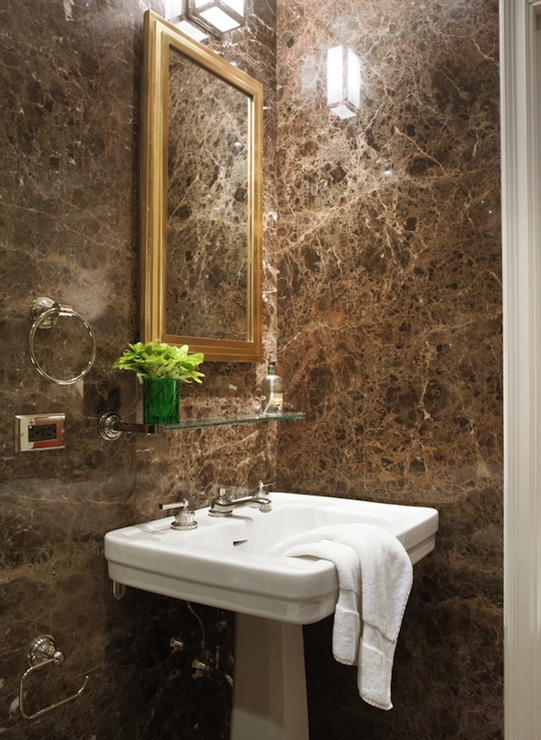 Brown Marble Bathroom Miles Redd
