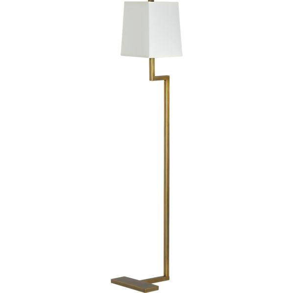 Clare Brass Floor Lamp   Crate And Barrel