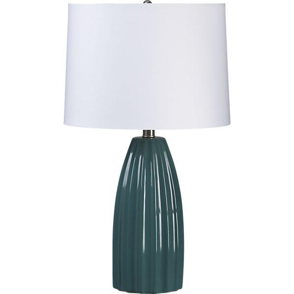 Ella teal table lamp crate and barrel