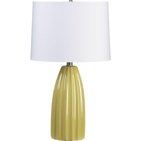 Ella yellow table lamp crate and barrel