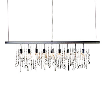 linear crystal chandelier. ZGallerie Linear Strand Chandelier View Full Size Crystal I