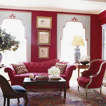 Pink Sofa, Eclectic, living room, Miles Redd