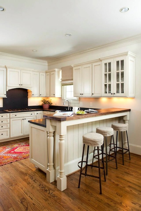 Planked Kitchen Peninsula Cottage Kitchen Deluxe Design Studio