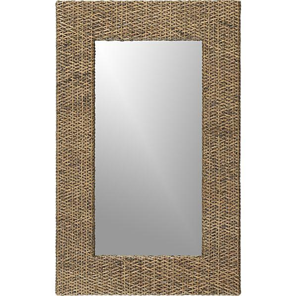 Woven Rattan Wall Mirror Crate And Barrel