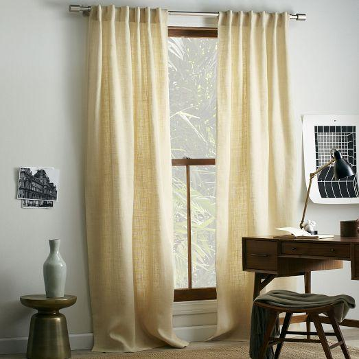Burlap Linen Drapes And Curtains â?? Half Price Drapes