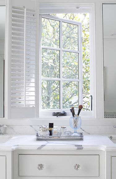 Built In Vanity Traditional Bathroom Revival