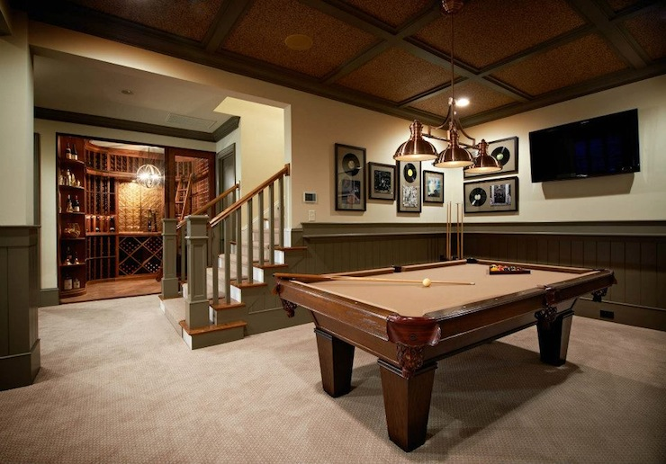 Basement game room contemporary basement alice lane home - Basements designs ...