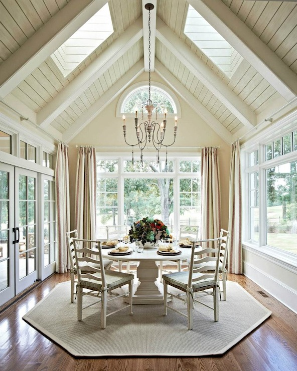ladder back dining chairs - Sunroom Dining Room