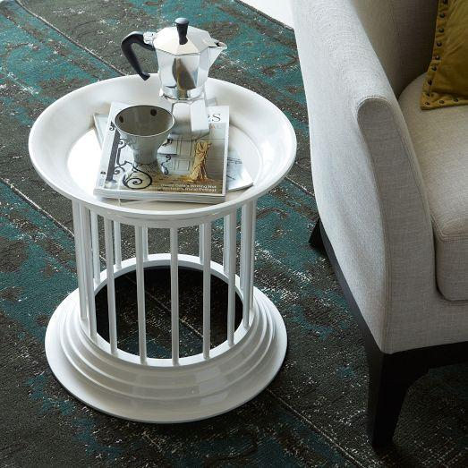 Gates Lacquer Side Table White West Elm - West elm white side table