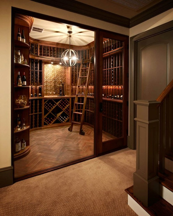 Wine Cellar Traditional Basement Carolina Design