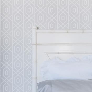 White Bamboo Headboard, Transitional, bedroom, Veranda House