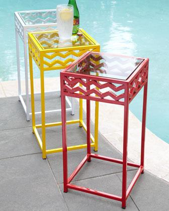 Chevron Outdoor Accent Table I Neiman Marcus