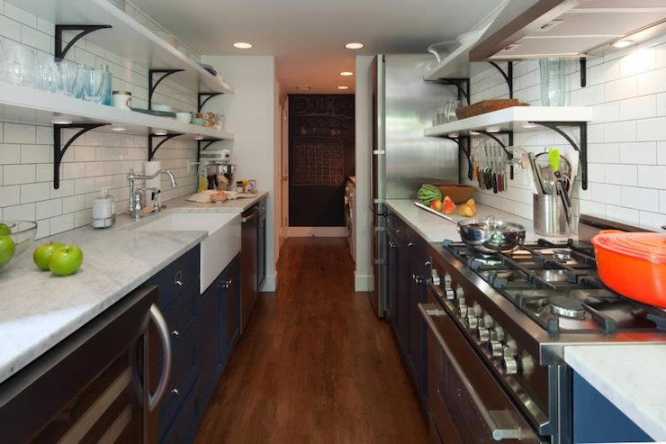 Galley kitchen design contemporary kitchen farrow for Two way galley kitchen designs