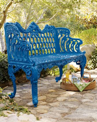 Peachy Blue Bench I Neiman Marcus Cjindustries Chair Design For Home Cjindustriesco