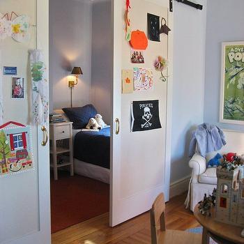Kids Room Barn Door, Traditional, boy's room, Nastasi Vail Design