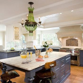 Blue Kitchen Cabinets, Contemporary, kitchen, Meyer and Meyer