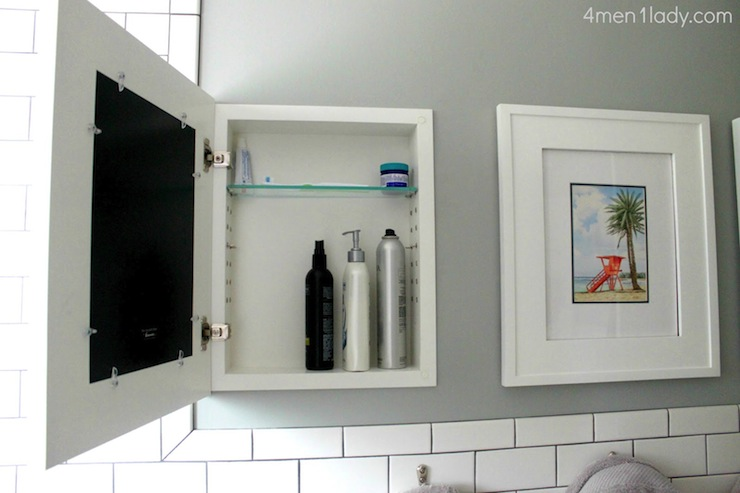 Hidden Medicine Cabinet Transitional Bathroom
