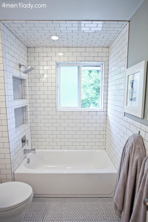 Boys Bathroom - Transitional - bathroom - Benjamin Moore Half Crest ...